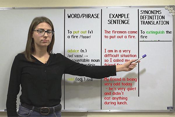 Anglų kalbos mokytoja Ana apie žodynėlį
