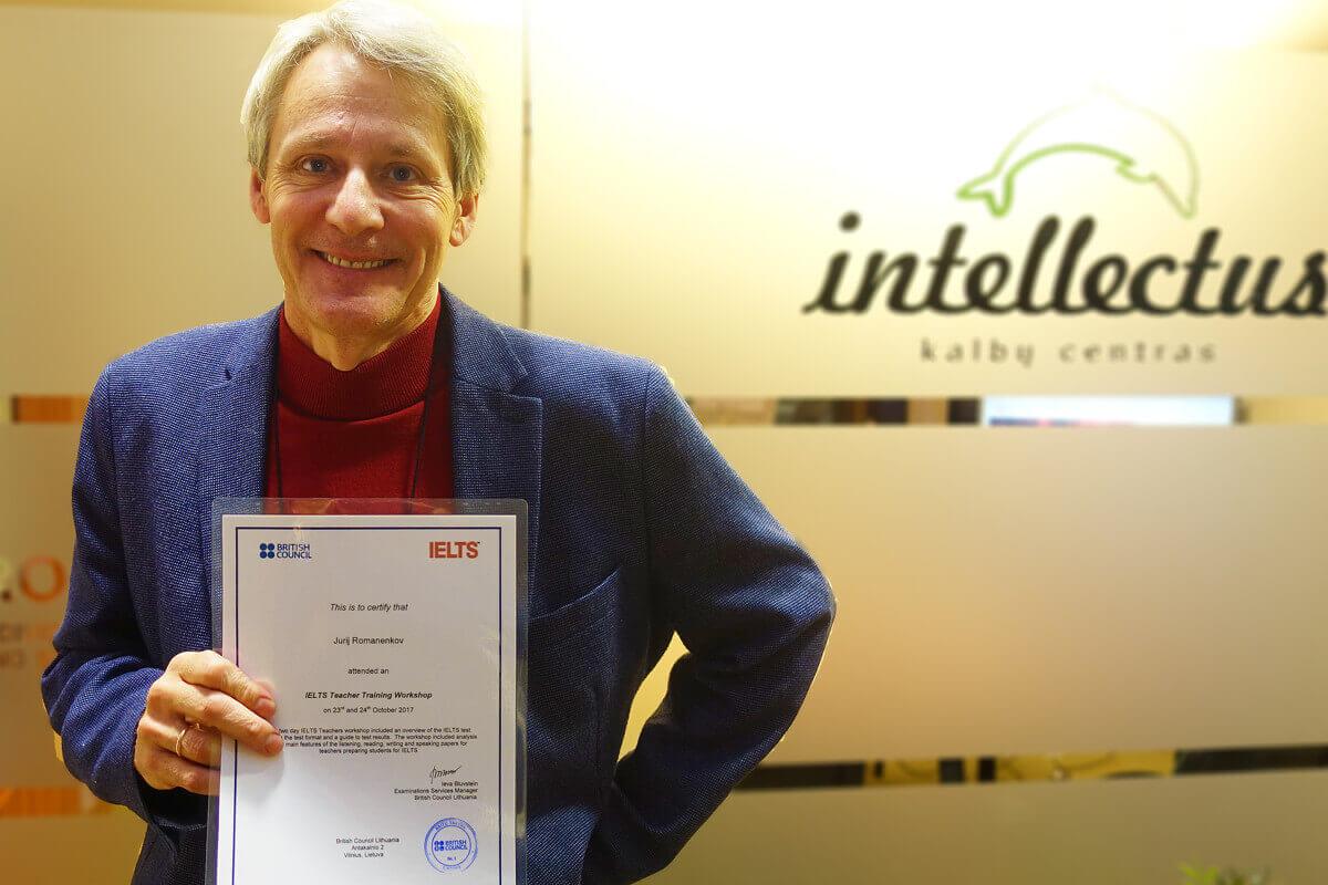 Intellectus Mokytojas Yuri gavo Britų tarybo sertifikatą