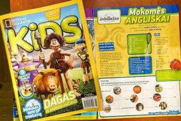 """""""Intellectus"""" anglų kalbos pamokos vaikams – žurnale """"National Geographic Kids"""""""